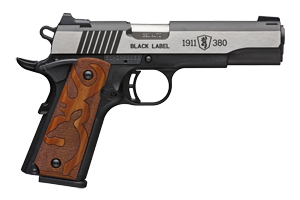 Browning Pistol: Semi-Auto 1911-380 Black Label Medallion Logo Grips - Click to see Larger Image