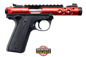 Ruger Pistol: Semi-Auto Mark IV 22/45 Lite Red - Click to see Larger Image