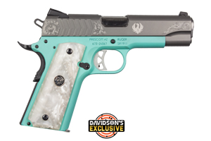 Ruger Pistol: Semi-Auto SR1911-CMD Lightweight Robin Egg DSC Exclusive - Click to see Larger Image