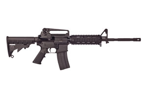 Bushmaster Rifle: Semi-Auto XM15 A3 M4 Type Carbine Quad Rail - Click to see Larger Image