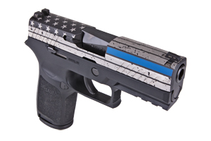 Sig Sauer Pistol: Semi-Auto P320 Nitron Carry-Thin Blue Line - Click to see Larger Image