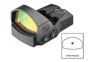 Sig Sauer  Romeo 1 PRO 6 MOA Red Dot Minature Reflex Sight - Click to see Larger Image